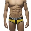 Double Piping Bottomless Brief yellow