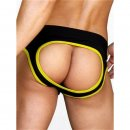 Army Fly Jock Brief Black/Yellow
