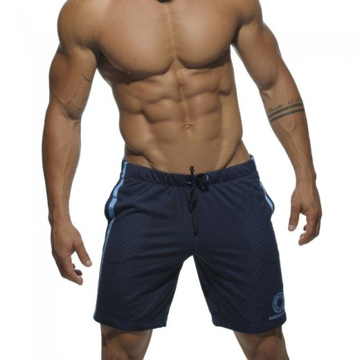 Air Mesh Knee Length Short - navy