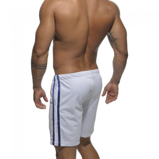 Air Mesh Knee Length Short - white